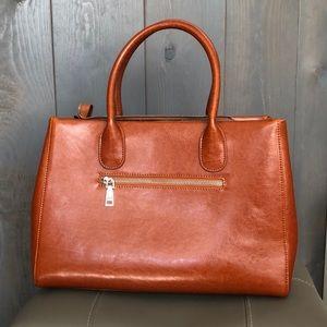 Heshe Brown Leather Handbag